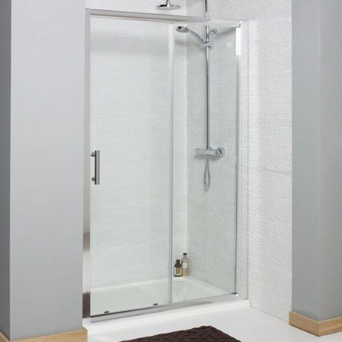 Kartell Koncept Sliding Shower Door - 1400mm Wide - 6mm Glass